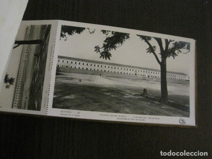 Postales: MAHON-BLOCK LARGO 12 POSTALES ANTIGUAS FOTOGRAFICAS-V. PONS -CON POSTAL PEQUEÑA-VER FOTOS-(V-14.416) - Foto 17 - 120328463