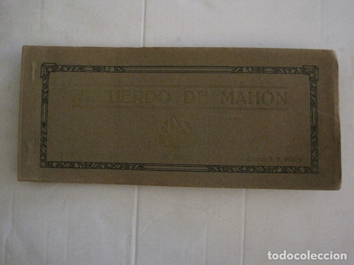 Postales: MAHON-BLOCK LARGO 12 POSTALES ANTIGUAS FOTOGRAFICAS-V. PONS -CON POSTAL PEQUEÑA-VER FOTOS-(V-14.416) - Foto 19 - 120328463