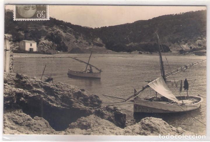 POSTAL DE IBIZA - PLAYA CALA VADELLA . (Postales - España - Baleares Moderna (desde 1.940))