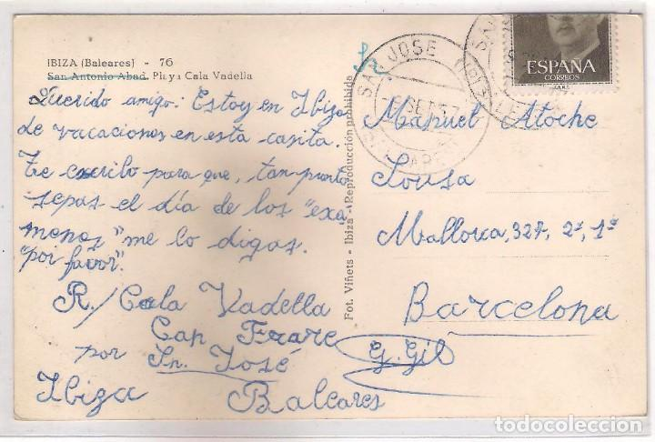 Postales: POSTAL DE IBIZA - PLAYA CALA VADELLA . - Foto 2 - 120498071