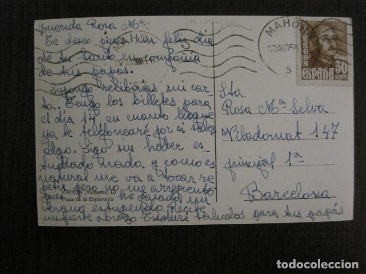 Postales: MAHON - MENORCA - POSTAL ANTIGUA-VER FOTOS-(52.893) - Foto 2 - 120546635