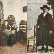 Postales: 2 POSTALES MALLORCA , PAREJA DE PAYESES NO CIRCULADAS. Lote 121424655