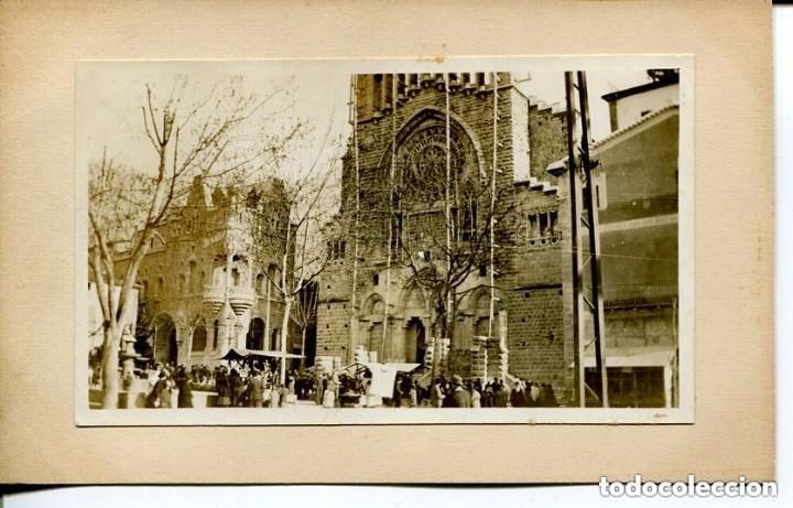 SÓLLER-FOTOGRÁFICA´-ESGLÉSIA SANT BARTOMEU- MUY RARA ÚNICA (Postales - España - Baleares Antigua (hasta 1939))