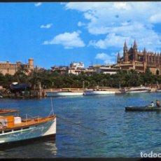 Postales: MALLORCA (BALEARES) - PALMA .- LA CATEDRAL Y LA LONJA DESDE ES MOLLET. Lote 124403335