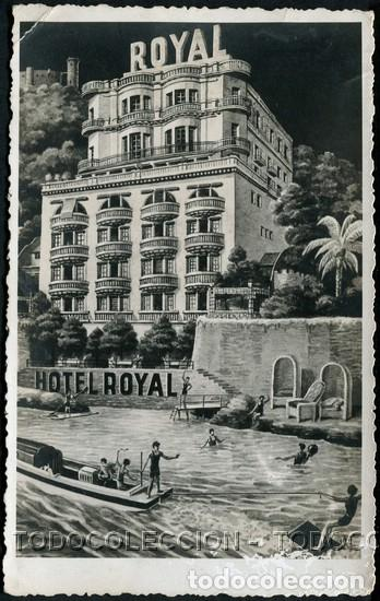 POSTAL BALEARES PALMA DE MALLORCA HOTEL ROYAL . CA AÑO 1940-50 (Postales - España - Baleares Moderna (desde 1.940))