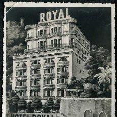 Postales: POSTAL BALEARES PALMA DE MALLORCA HOTEL ROYAL . CA AÑO 1940-50. Lote 124418491