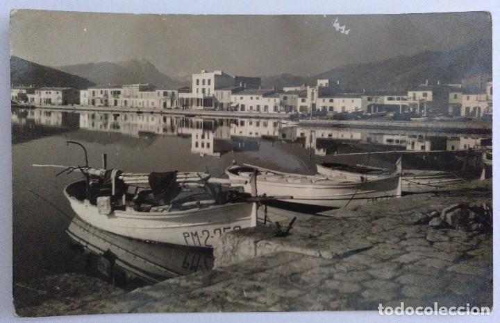 POSTAL MALLORCA (BALEARES) PUERTO POLLENSA DETALLE FOTO TRUYOL CIRCULADA 1957 (Postales - España - Baleares Moderna (desde 1.940))