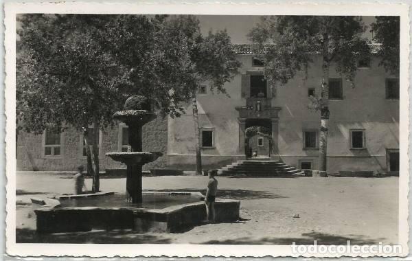 POSTAL SANTUARIO DE LLUCH LA FUENTE PLAZA DEL SANTUARIO ED. FOTO BALEAR N° 2 -- 1953 MALLORCA (Postales - España - Baleares Moderna (desde 1.940))