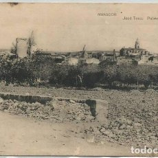 Postales: POSTAL MANACOR VISTA GENERAL MOLINOS FOTOTIPIA HAUSER Y MENET ED. JOSE TOUS MALLORCA. Lote 128548795