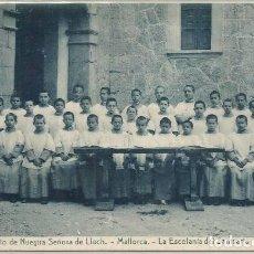 Postales: POSTAL ANTIGUA SANTUARIO DE LLUCH LA ESCOLANIA ED. THOMAS N° 4 MALLORCA. Lote 128552051