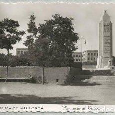 Postales: POSTAL PALMA DE MALLORCA MONUMENTO AL BALEARES BARCO N° 500. Lote 128643903