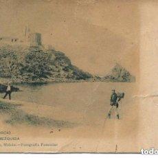 Postales: MAHÓN-CALA MEZQUIDA-FOTÓGRAFO- 1900 SIN DIVIDIR MUY RARA. Lote 128686355