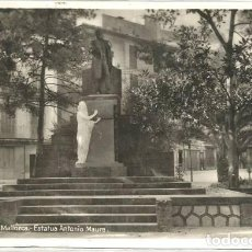Postales: POSTAL PALMA DE MALLORCA MONUMENTO ESTATUA ANTONIO MAURA ED. AM N° 227 COCHE ANTIGUO . Lote 128690559
