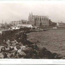 Postales: POSTAL PALMA DE MALLORCA PASEO DE LA RIBA CATEDRAL ED. GUILERA N° 178. Lote 128695699