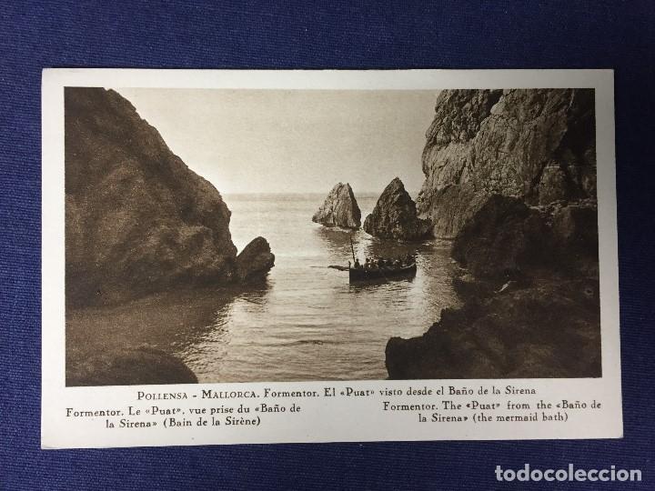 POSTAL MALLORCA FORMENTOR EL PUAT VISTO DESDE EL BAÑO DE LA SIRENA NO ESCRITA NI CIRCULADA (Postales - España - Baleares Moderna (desde 1.940))