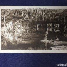 Postales: POSTAL CUEVAS DEL DRACH MALLORCA LAGO MARTEL CLISÉ SERVERA NO ESCRITA NO CIRCULADA. Lote 130760124