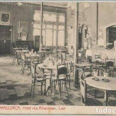 Postales: POSTAL PALMA DE MALLORCA HOTEL LA ALHAMBRA CAFE INTERIOR ED. THOMAS N° 7125 . Lote 131138816