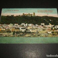Postales: PALMA DE MALLORCA EL TERRENO Y CASTILLO DE BELLVER. Lote 132578766