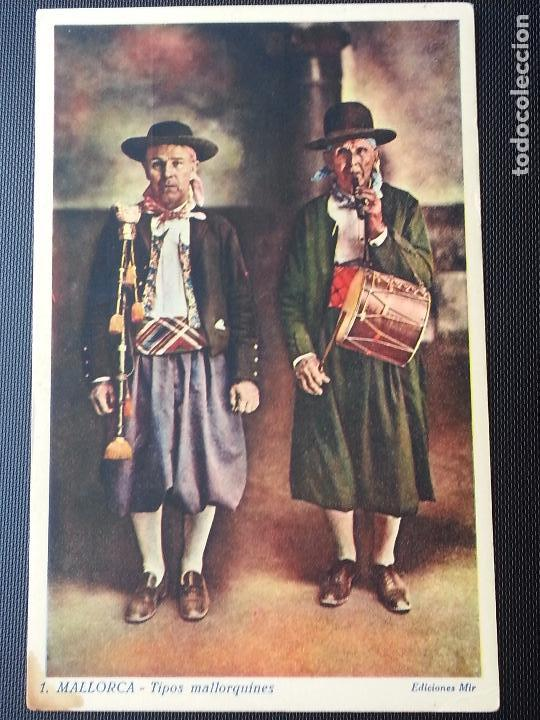 POSTAL TIPOS MALLORQUINES .N 1 ,EDICIONES MIR (Postales - España - Baleares Antigua (hasta 1939))