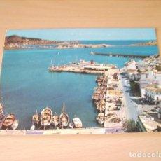 Postales: IBIZA ( BALEARES ) CIUDAD DETALLE DEL PUERTO. Lote 133478834