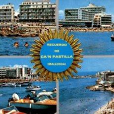 Postales: MALLORCA – CA´N PASTILLA – HOTELES MALLORQUINES – 1968 – CIRCULADA. Lote 133960954