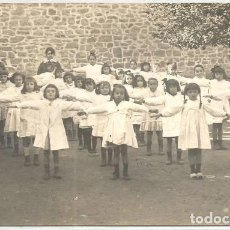 Postales: POSTAL ANTIGUA ALUMNAS NIÑAS HACIENDO GIMNASIA COLEGIO PONT D INCA PALMA MALLORCA. Lote 134150730