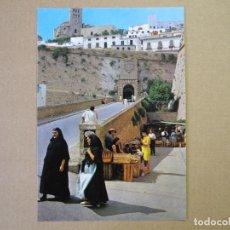 Postales: IBIZA. CIUDAD. MURALLAS Y CATEDRAL. CASA FIGUERETAS. N. 242. NUEVA. Lote 134416326