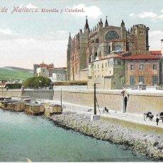 Postales: P- 8665. POSTAL PALMA DE MALLORCA, MURALLA Y CATEDRAL. Nº44. . Lote 135313878
