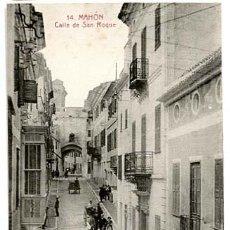 Cartes Postales: MENORCA MAHON CALLE DE SAN ROQUE. SIN CIRCULAR. Lote 135707331