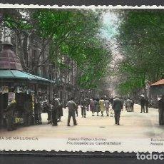 Postales: Q5038D-BELLA TARJETA POSTAL PALMA MALLORCA Nº22 PASEO GENERALISIMO ANTONIO VICH,CIRCULADA CON SELLO . Lote 136478966
