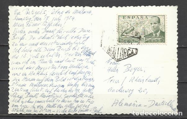 Postales: Q5038D-BELLA TARJETA POSTAL PALMA MALLORCA Nº22 PASEO GENERALISIMO ANTONIO VICH,CIRCULADA CON SELLO - Foto 2 - 136478966