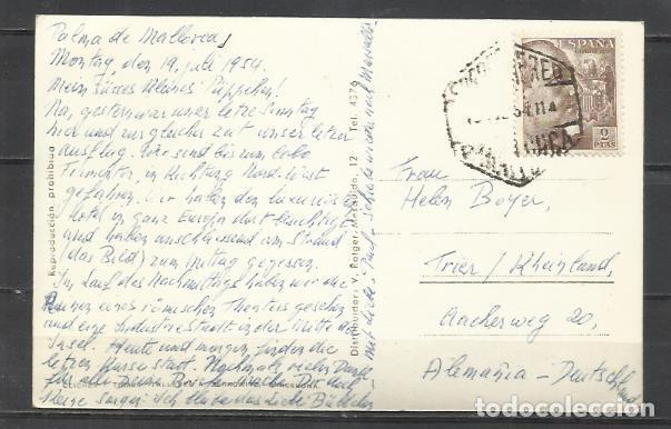 Postales: Q5038E-BELLA TARJETA POSTAL PALMA MALLORCA POLLENSA,DETALLE DEL PUERTO CIRCULADA CON SELLO FRANCO.MA - Foto 2 - 136479698