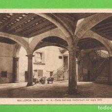 Postales: POSTAL - PATIO BARROCO MALLORQUÍN DEL SIGLO XVII - SIN CIRCULAR.. Lote 138022190