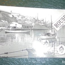 Postales: MAHON ( MENORCA ) - 105 , VISTA PARCIALDEL MUELLE COMERCIAL EDC. DOLFO MAHON CIRCULADA 1963 - 14X9 C. Lote 139389414
