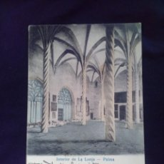 Postales: PALMA INTERIOR DE LA LONJA ED. JOSE TOUS CIRCULADA PRIMERA ÉPOCA. Lote 139718690