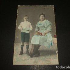 Postales: PALMA DE MALLORCA RETRATO DE NIÑO Y MADRE ILUMINADO POSTAL FOTOGRAFICA J. AGUILAR FOTOGRAFO. Lote 140282398