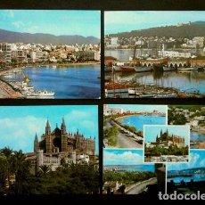 Cartes Postales: PALMA DE MALLORCA - LOTE 4 POSTALES DE PALMA (AÑOS 60) ED. VARIAS -CIRCULADAS- VER TODAS LAS FOTOS. Lote 140442234