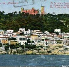 Postales: PALMA DE MALLORCA-EL TERRENO Y CASTILLO BELLVER- 1929. Lote 140466438