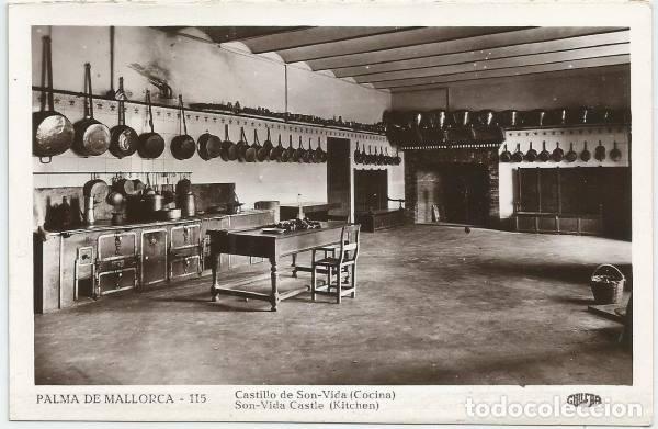 POSTAL PALMA DE MALLORCA CASTILLO DE SON VIDA LA COCINA ED. GUILERA N° 115 (Postales - España - Baleares Moderna (desde 1.940))