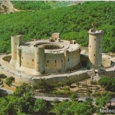 Postales: MALLORCA, PALMA, CASTILLO DE BELLVER, VISTA AÉREA - FOTO CASA PLANAS 25 - S/C. Lote 143095494