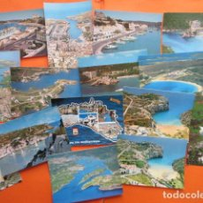 Postales: MENORCA - 26 POSTALES - 7 CIRCULADAS MATASELLOS Y SELLO AÑOS 60 A 90. Lote 144095854