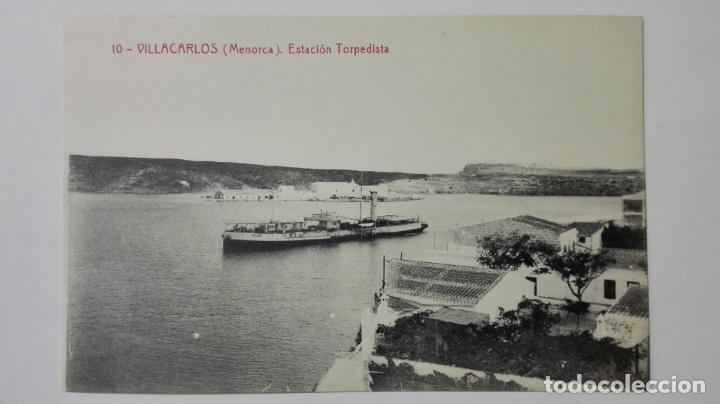 POSTAL VILLACARLOS-MENORCA, ESTACION TORPEDISTA, Nº 10 (Postales - España - Baleares Moderna (desde 1.940))