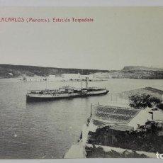 Postales: POSTAL VILLACARLOS-MENORCA, ESTACION TORPEDISTA, Nº 10. Lote 144752006