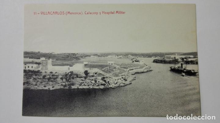 POSTAL VILLACARLOS-MENORCA, CALACORP Y HOSPITAL MILITAR, Nº 11 (Postales - España - Baleares Moderna (desde 1.940))