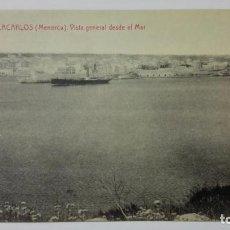 Postales: POSTAL VILLACARLOS-MENORCA, VISTA GENERAL DESDE EL MAR, Nº 12. Lote 144752114
