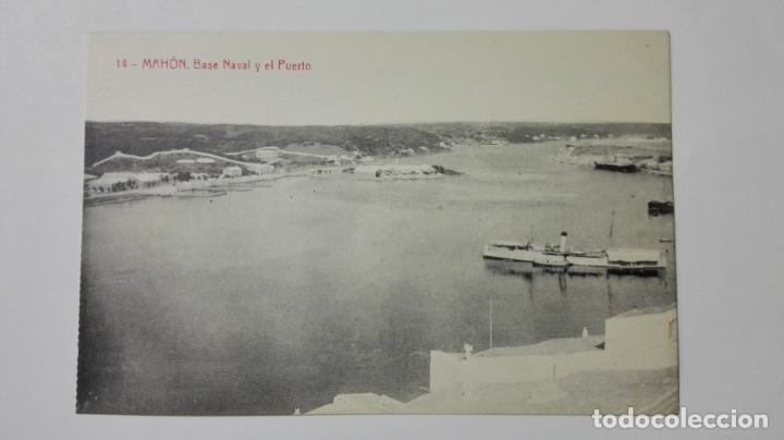POSTAL MAHON-MENORCA, BASE NAVAL Y EL PUERTO, Nº 14 (Postales - España - Baleares Moderna (desde 1.940))
