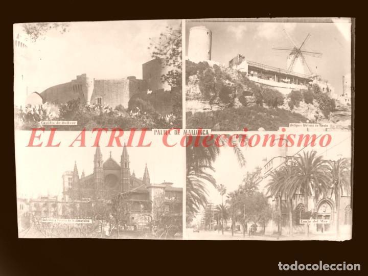 1 CLICHE ORIGINAL - PALMA DE MALLORCA - NEGATIVO EN CRISTAL - EDICIONES ARRIBAS (Postales - España - Baleares Antigua (hasta 1939))