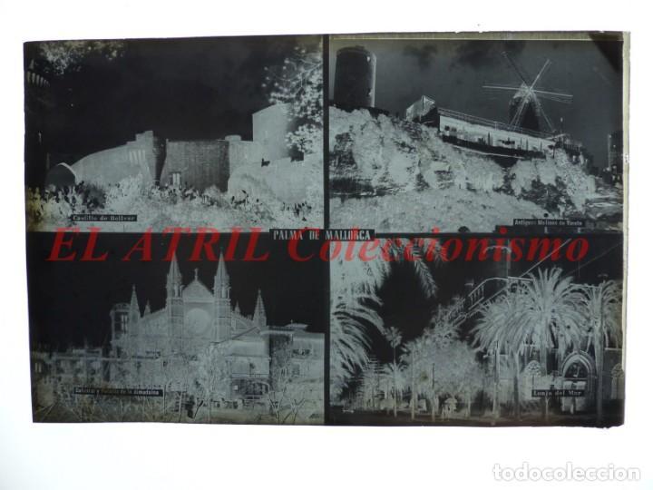 Postales: 1 CLICHE ORIGINAL - PALMA DE MALLORCA - NEGATIVO EN CRISTAL - EDICIONES ARRIBAS - Foto 2 - 145480742