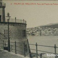 Postales: PALMA DE MALLORCA FARO DEL PUERTO DE PALMA Y CASERÍO BELLVER. Lote 140737738