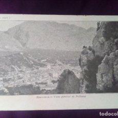 Postales: POSTAL MALLORCA VISTA GENERAL DE POLLENSA CIRCULADA 1910 THOMAS SIN DIVIDIR. Lote 147065626